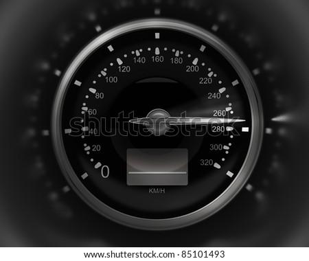 3D Speedometer. rendering ( high resolution )