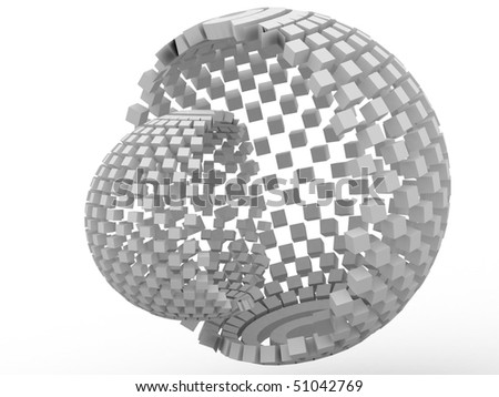 3d sphere from cubes