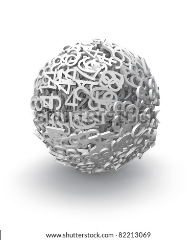 3d sphere of numbers