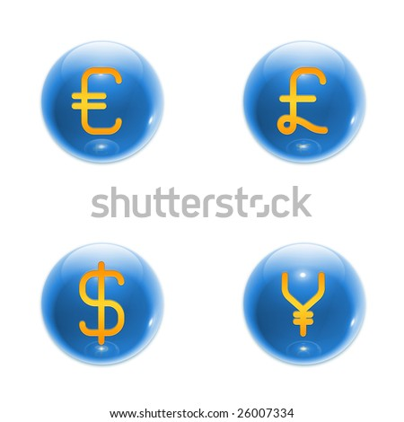 3D Sphere With Euro Symbol (jpeg has clipping path)