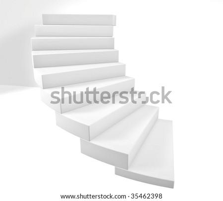 3D stairs steps illustraion render