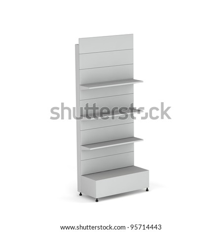3D stand for  advertising on a white background