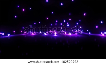 3d still rendering of bouncing light balls background