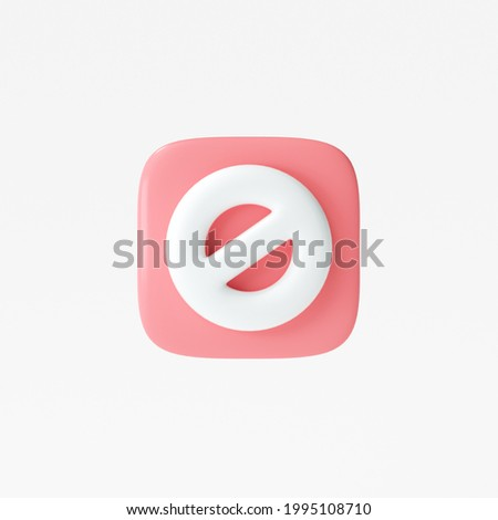 3D Stop sign, stop symbol, traffic stop, restricted and dangerous signs isolated white background. 3d render illustration