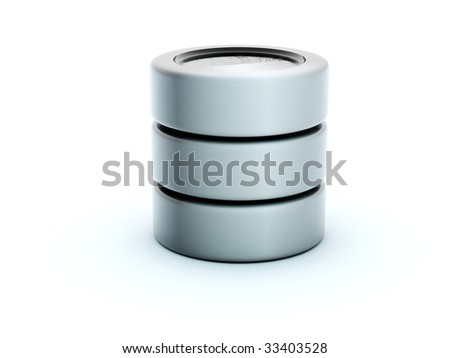 3d storage icon isolated on white