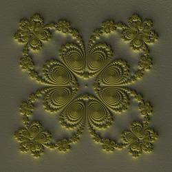 3d symmetric green fractal pattern