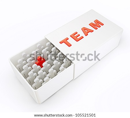 3d team isolated on a white background