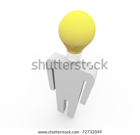 3D the character on the isolated background