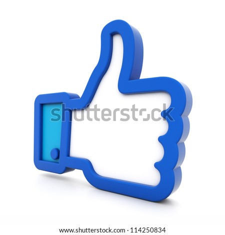 3d thumbs up isolated on white background