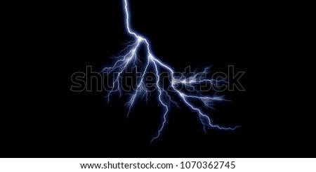 3D thunder light effect