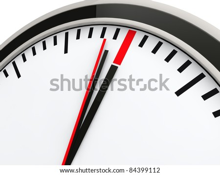 3d time clock deadline countdown red watch