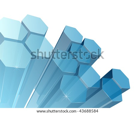 3d transparent abstract background