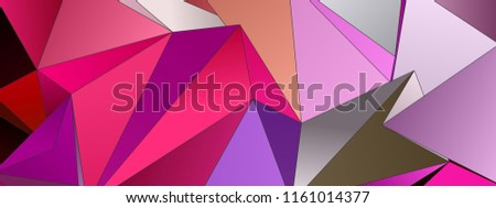 3d Triangles, abstract  background. Design wallpaper. - Shutterstock ID 1161014377