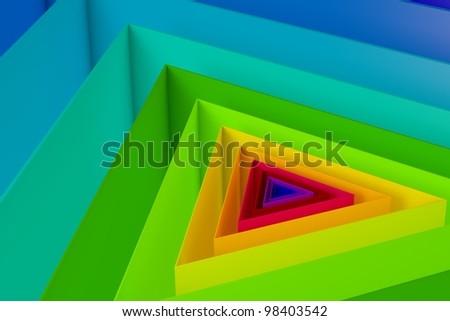 3D Trigon Colorful Background
