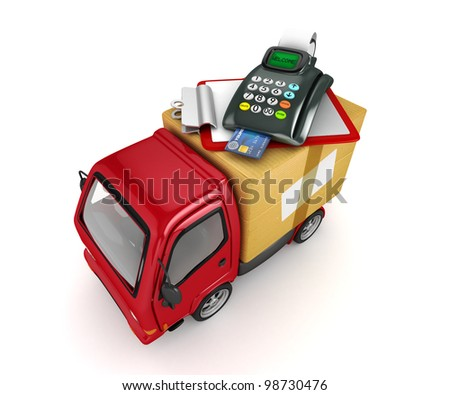 3D Truck with POS-terminal-Payment at the door
