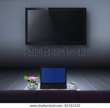3d TV in the  room