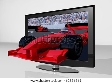 3D TV with formula1 car