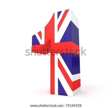 3d UK flag collection - number 1