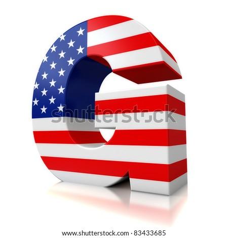 3d US letter for logos - G  G Logo 3d
