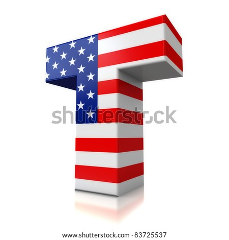 3d Us Letter For Logos - T Stock Photo 83725537 : Shutterstock