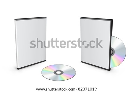 3d vector mesh disc boxes isolated on the white background