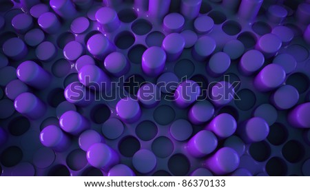 3d violet futuristic abstraction background