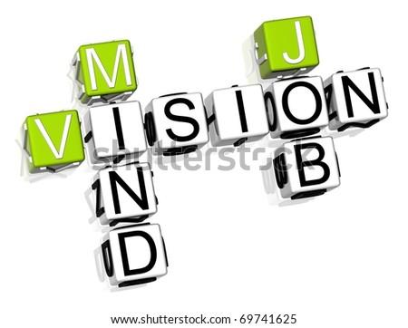 3D Vision Mind Job crossword