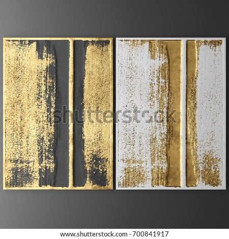 3D wall art, Picture of gold leaf