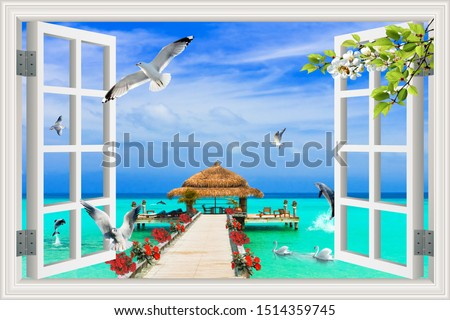 3d wall poster 2019 3D  mural poster wall printable up to (3.00x3.00 m) height resolutionextra good quality  Photo stock ©