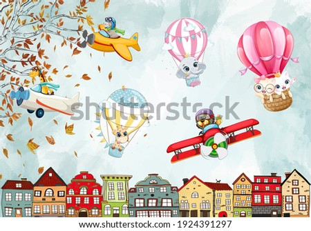3D wallpaper design with planes