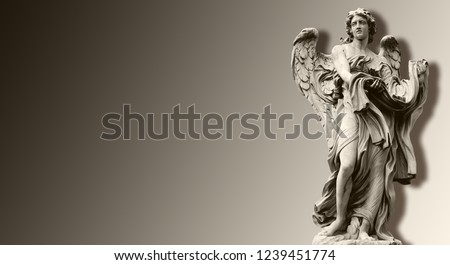 3d wallpaper, Ponte Sant'Angelo is a Roman bridge in Rome, Italy, 134 AD.  Angel with the Garment and Dice