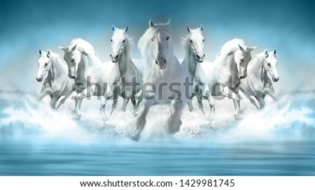 Photo of  3D Wallpaper Seven Horses running