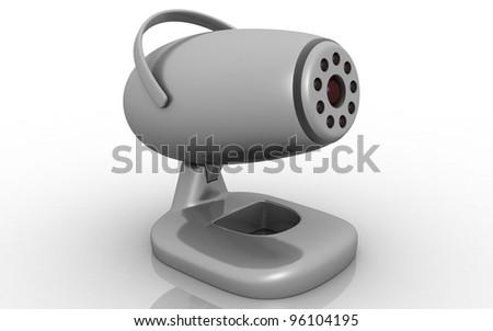 3d web camera on white background