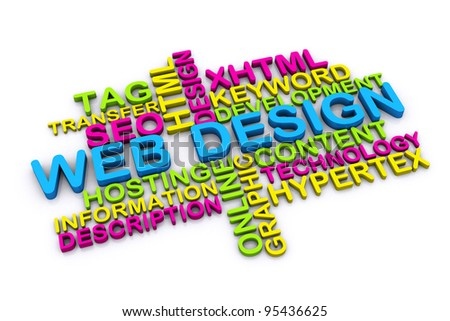 Design Pictures With Words 3d Web Design Concept And