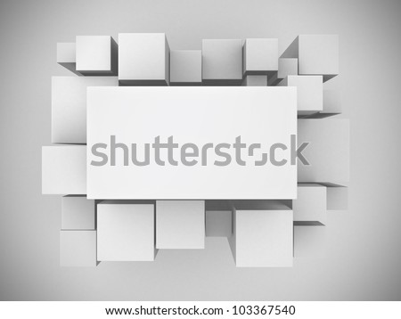 3d white abstract background - render illustration