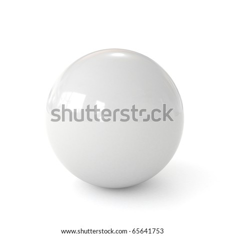 3d white ball isolated on white background