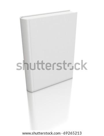 3d white book