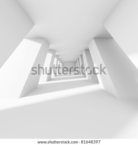 3d White Corridor