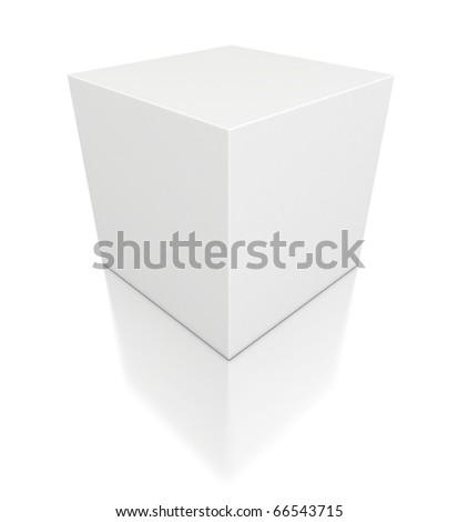 3d white cube