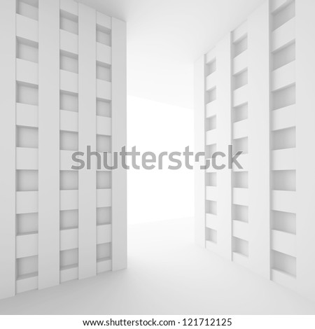 3d White Empty Room Design