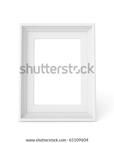 3d white frame ready for your graphic