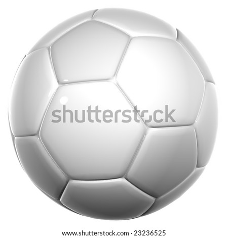 3d white leather soccer ball isolated on white background, for sport, recreation,football or soccer designs