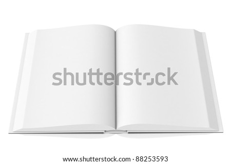 3d white open book - ready for next design