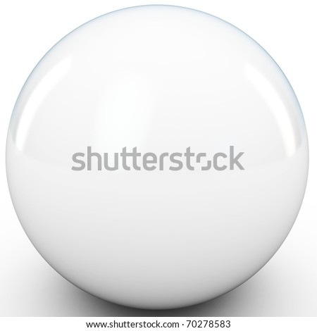 3d white sphere in studio environment isolated on white
