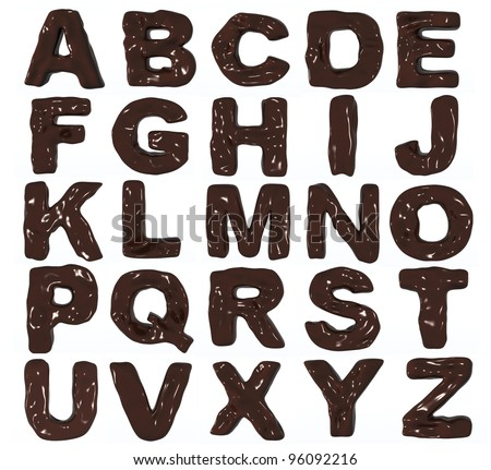 3D whole chocolate alphabet
