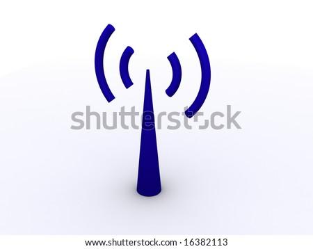 3D wi-fi antenna icon