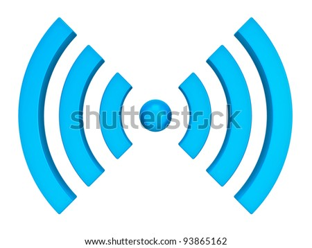 3d wifi icon isolated on white background