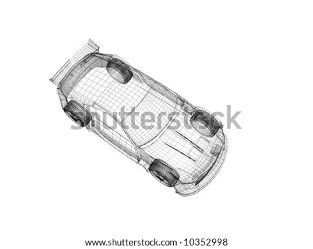 3d wireframe car