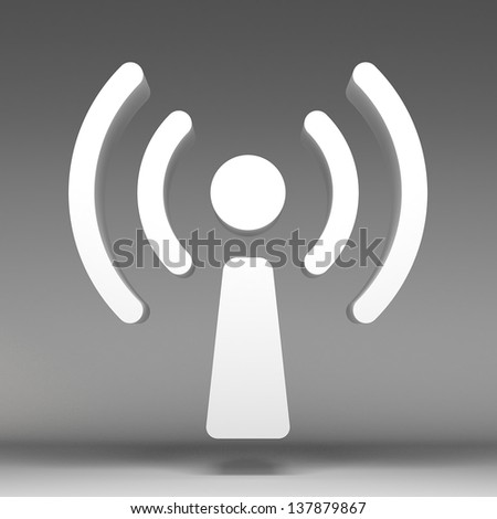 3d wireless icon