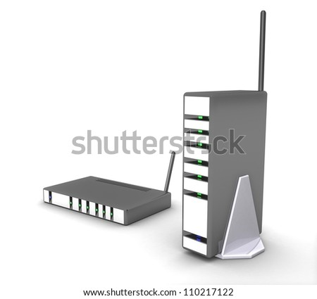 3d Wireless modem, router